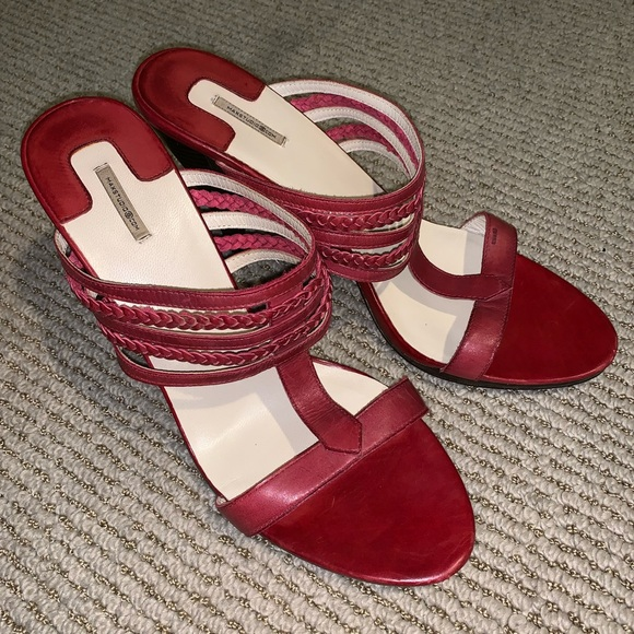 Max Studio Shoes - Max studio red leather heels excellent condition!